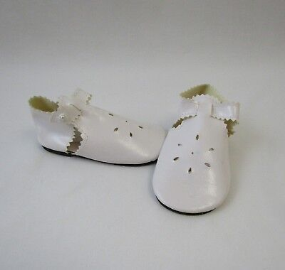 """Doll Shoes 37mm Medium Pink//White Scallop Slip ons  for *Bleuette//12/""""Shirley T,"""