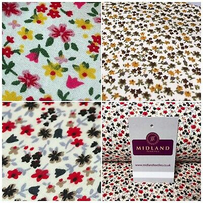 """100/% Cotton Floral Vintage Ditsy printed dress fabric 44/"""" Wide M739 Mtex"""