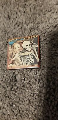 Vintage 1980s PINBACK Grateful Dead RARE Pin Button Skeletons From the Closet