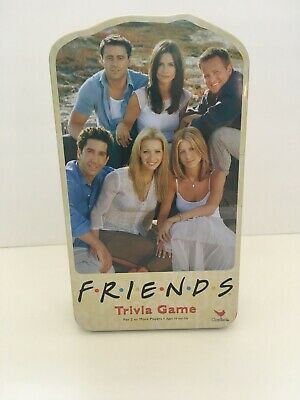 Friends Trivia Game 2003 Travel Edition Tin Complete - TV Show Board Game