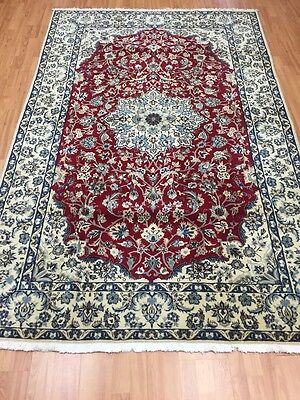"5'4"" x 8'5"" New Persian Nain Oriental Rug - Fine - Wool & Silk Pile - Hand Made"