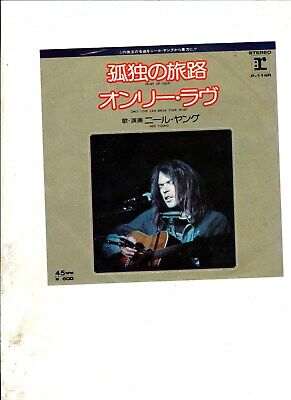 "NEIL YOUNG Heart of Gold JAPAN 7"" w/PS CLASSIC ROCK"