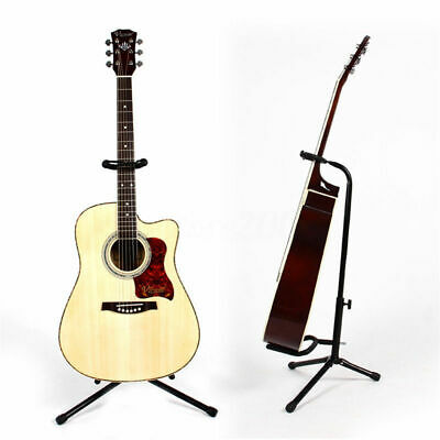 Folding Electric Tripod Acoustic Bass Guitar Violin Stand Floor Holder Rack Part