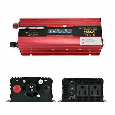 2000W/3000W Car Power Inverter DC 12V To AC 110V Charger Converter with USB Port