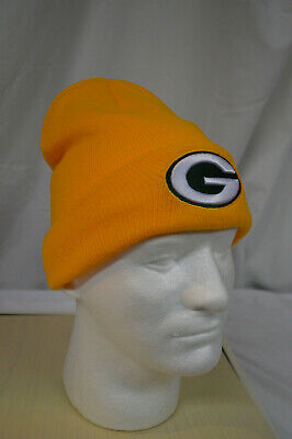 7654df75f9f NFL Green Bay Packers 47 BRAND Basic CUFFED KNIT Cap Beanie Hat Yellow-OSFM