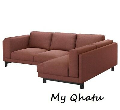 IKEA NOCKEBY SOFA Chaise Right Couch Cover Slipcover 703.198.58 Red ...
