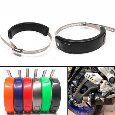 1Pcs Motorcycle Round Exhaust Protector Can Cover 100-160mm Universal LD