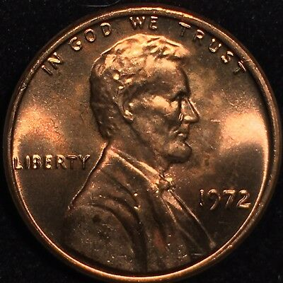 1972 Lincoln Cent Double Die Obverse Flawless Ms 72 Ddo * *Rare * Gorgeous Gem *