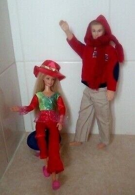 BARBIE DOLL, Fully Poseable in OOAK outfit + BONUS MALE DOLL, VINTAGE, RETRO