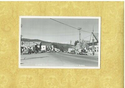 CA Chester Antique 1940-50s RPPC real photo postcard VINTAGE CARS OLD STORES
