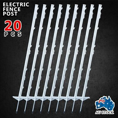 20pcs Electric Fence Pigtail Steel Post Strip Graze Pig Tail Tread In Posts