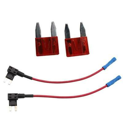 Pair Add-A-Circuit Fuse Tap Piggy Back Mini Blade Fuse Holder Atm Apm 12-24V New
