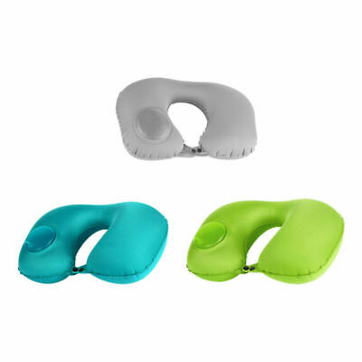 Foldable Automatic Inflatable U-Shaped Pillow Air Cushion Travel Office HOT