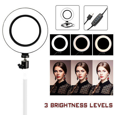 "6"" LED Ring Light with Standout Dimmable LED Lighting Kit For Makeup Youtobe"