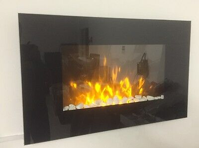 2019 7 Colour Led Truflame Flat Wall Mounted Electric Fire And 7Colour Side Leds