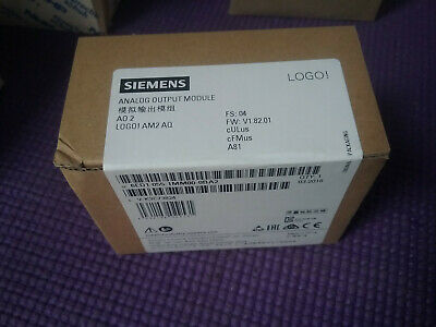 Siemens Logo! Am 2 AQ - A02  6ED1055-1MM00-0BA2 ANALOG OUTPUT MODULE *SEALED*