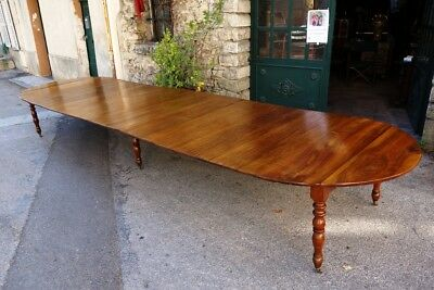 French antique furniture : 19th C Louis-Philippe banquet table, 542 cm