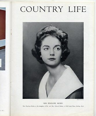 1958 COUNTRY LIFE Magazine ASHTEAD PARK Little Haugh Hall PENELOPE RICHES (3023)