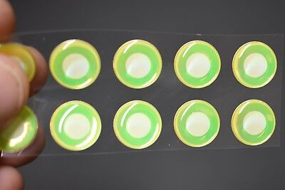 """14 UV NEON FLUORESCENT PINK 3D Soft Molded 12mm .472/"""" Adhesive Eyes Fly Lures"""