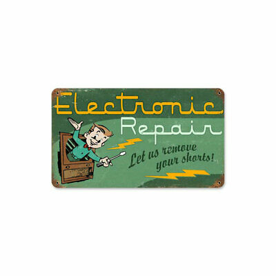 VINTAGE SIGN Electronic Repair 8 x 14
