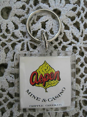 Key Chain Aspen Mine and Casino Cripple Creek CO Vintage