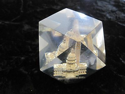 Washington Monument & Capitol Building Paperweight