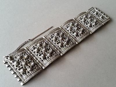 ANTIQUE ORIGINAL ORNATE SILVER ALLOYS Ottoman Hand made Bracelet from XIXcentury