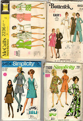 Vintage Sewing Pattern - Lot of 4 - Misses / Junior Petite - 1960s - CUT