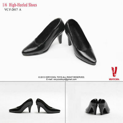 VERYCOOL VCF2017 1//6 Scale Black High-Heel Shoes Classic Suit Women Shoes Model