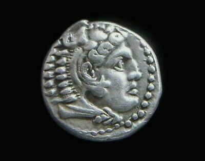 Greek Silver Drachm  Alexander III The Great, 336-323 BC, Lifetime issue  AA0031