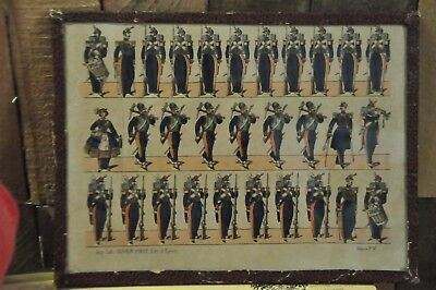 Vintage Military Offset Lithograph Imp. Lith. OLIVER-PINOT Edit. a' Epinal
