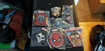 Funko Marvel POP Collector Corps 4 Patches and 4 Pins lot
