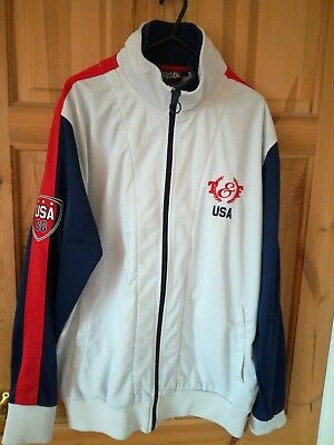 0952ee49 USA OLYMPICS TRACK & Field Jacket Jersey Top Seoul 1988 Large L Vintage  Retro