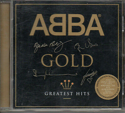 """Abba """"Gold-Greatest Hits"""" Rare Limited Edition Cd With Golden Signature On Case"""