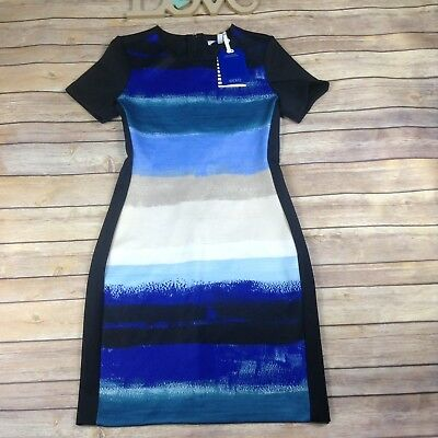 c015acf6024 Reed Womens Size XS Limited Edition Stripe Sky Blue Black Dress NWT