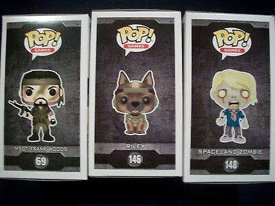 Call of Duty Funko Pop! Games #69 FRANK WOODS #146 RILEY #148 SPACELAND ZOMBIE