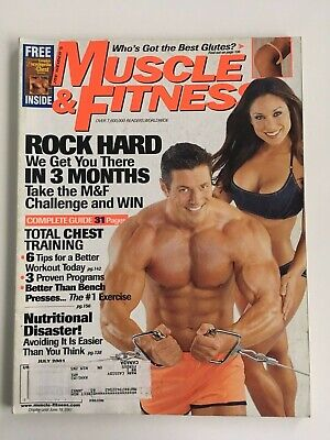 Muscle & Fitness Magazine July 2001 Vol. 62 No. 7 Rock Hard In 3 Months Great Ad