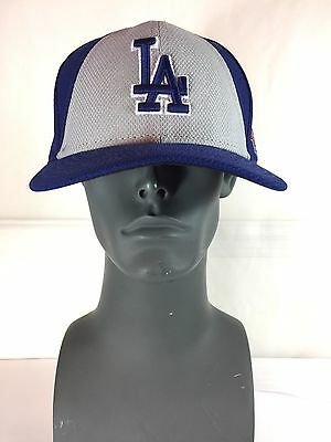 NEW ERA 59Fifty Los Angeles LA Dodgers Fitted Hat (Dark Royal / Gray) MLB Cap