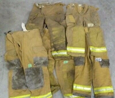Lot of 5 Various Size Firefighter Turnout Gear Pants Trousers Without Liners