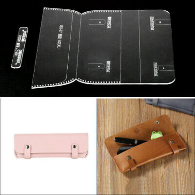 Pen Template Kit Bag Pattern Tools 19*7*2cm Clear Leather Crafts Student Sets