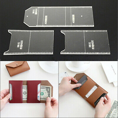 Stencil Template Pattern Tool Purse Wallet Transparent Supplies Leather Craft