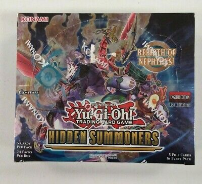 Yu-Gi-Oh! Hidden Summoners 1st Edition Booster Box Factory Sealed 24 packs