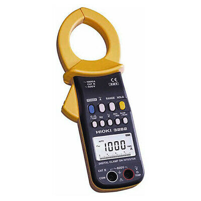 Hioki 3282 TRMS AC Dig. Clamp Meter, 600V/1000A with Freq and Res