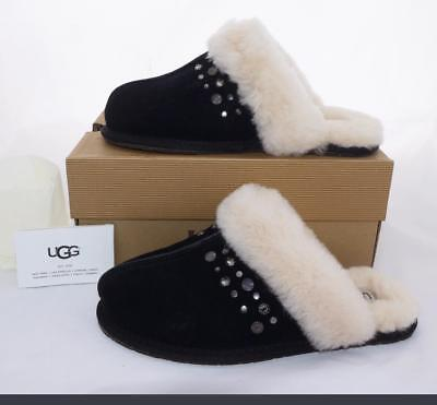 b0ee940638ae UGG Australia SCUFFETTE II SLIPPERS STUDDED BLING BLACK UGG 7M - Fit is an 8
