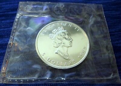 1999 1 oz Canada Silver Maple Leaf 1 oz .9999 FINE SILVER ~ Original Mint Sealed