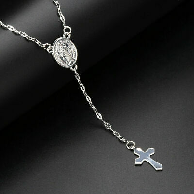 925 Sterling Silver Christian Jesus Christ Cross Catholic Crucifix Necklace