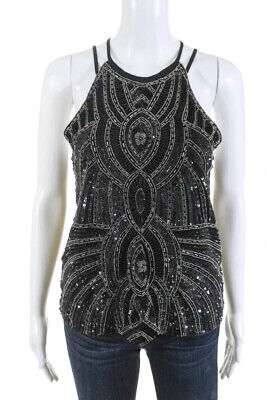 74354decb35006 Parker Womens Beaded Sequined Zane Tank Top Black Size Extra Small LL19LL