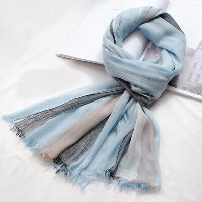 Linen Scarf Spring Summer Collection  Womens Mens Fashion Solid Shawl LD