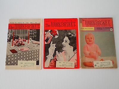 The Workbasket Magazine 3 issues from 1964 May, June, October