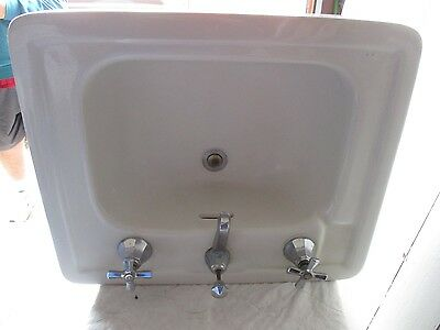Vintage Antique American Standard Pedestal Peg Leg Sink Porcelain  We Ship!!!!!!